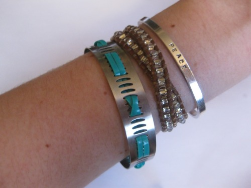 DIY Hose Clamp Bracelet. This was one of my favorite jewelry hardware store ideas and I posted this one earlier using ribbon here. Tutorial from Thanks, I Made It here.