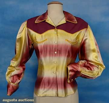 omgthatdress:  Cowgirl Shit 1940s-1950s Augusta Auctions  Best typo ever XD