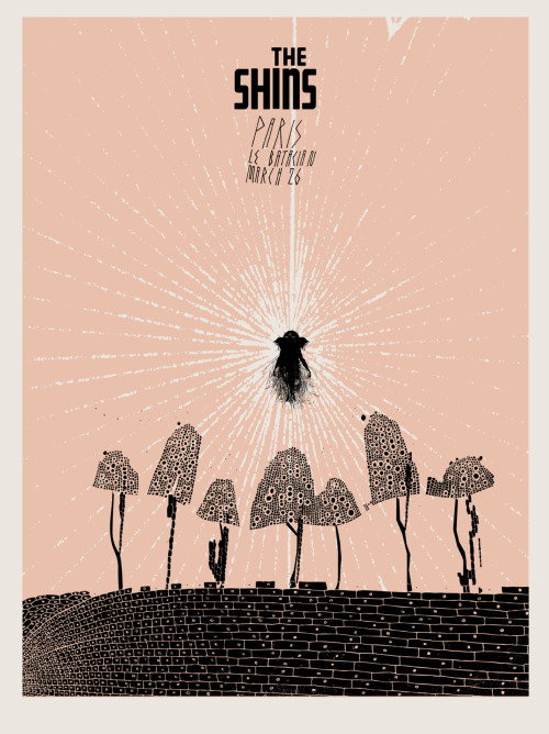 THE SHINS Tour Poster - Paris March 26 edition of 100