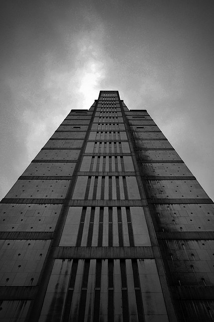 ro-w:  the antwerp police tower, 1967. by renaat braem