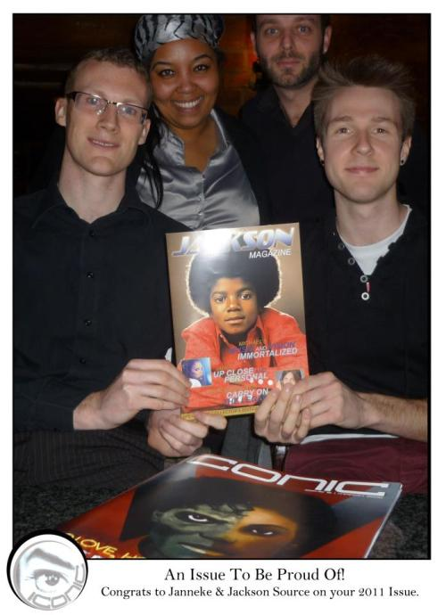 "Look what the team of Michael Jackson ""Iconic Magazine"" from @MJvibe sent to @JacksonSource! This pic makes my day! Thanks guys! :-)"