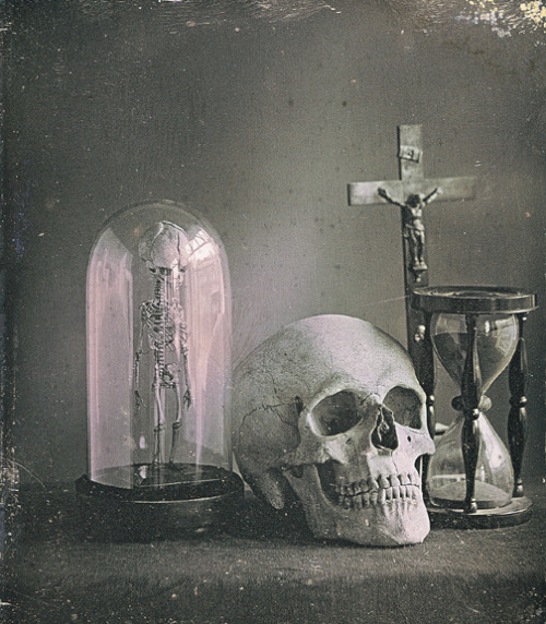 ca. 1850, [daguerreotype, still life with a skull], L. Jules Duboscq-Soleil via the George Eastman House Collection, Still Photograph Archive