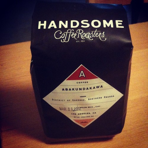 Goin' LA via Rwanda ~ Abakundakawa Handsome #Coffee Roasters #CoffeeIsMyCrack #WestCoast #LA  (Taken with instagram)