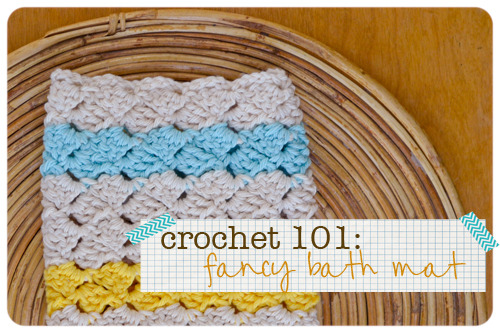 crafty-licious:  Crochet 101: Fancy Bath Mat Tutorial