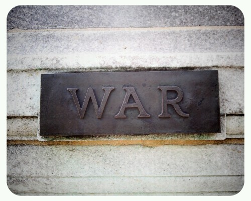 """War"" location N Charles Street & W Mt Vernon Place"