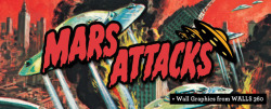 WALLS 360 and Topps Partner to Produce Mars Attacks Wall Graphics