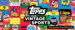 WALLS 360 and Topps Partner to Produce New Vintage Sports Card Wrapper Wall Graphics