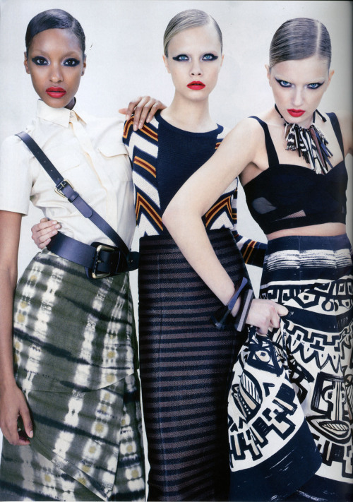 Far right. Donna Karan in VOGUE Australia. #Fierce