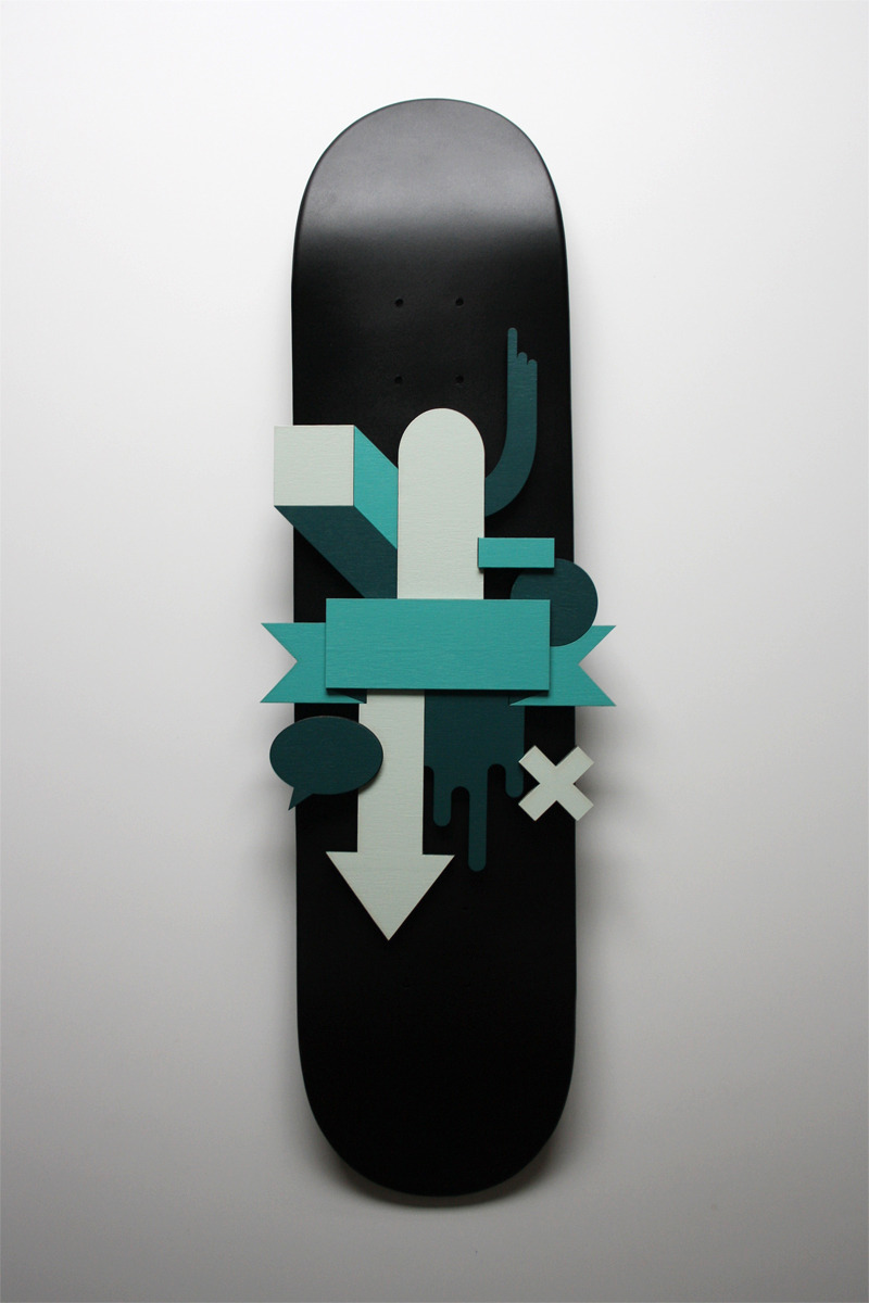 SKEVISM - laser cut ply wood popping off a skateboard.  www.skevone.tumblr.com