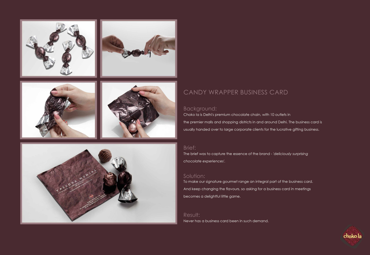 Choko la: Candy Wrapper Business Card