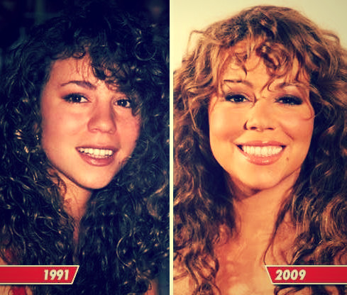Mariah Carey at 21 and 39
