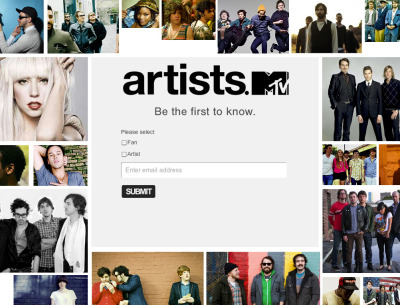 MTV launches Myspace competitor. Sign up at Artists.mtv