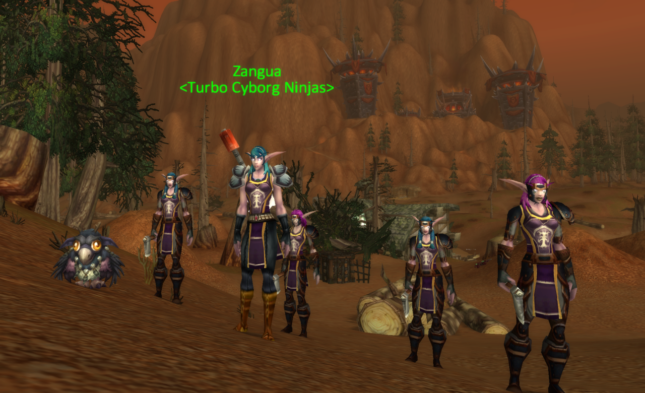 my army of night elves helping me kill orcs in stonetalon mountains