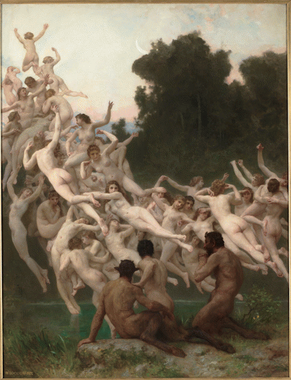 William-Adolphe Bouguereau. The Oreads. 1902. Oil on canvas. Musée d'Orsay. Paris, France.