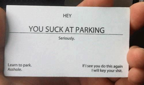 Judging by the way people park nowadays, I will need a billion of these. Hilarious.
