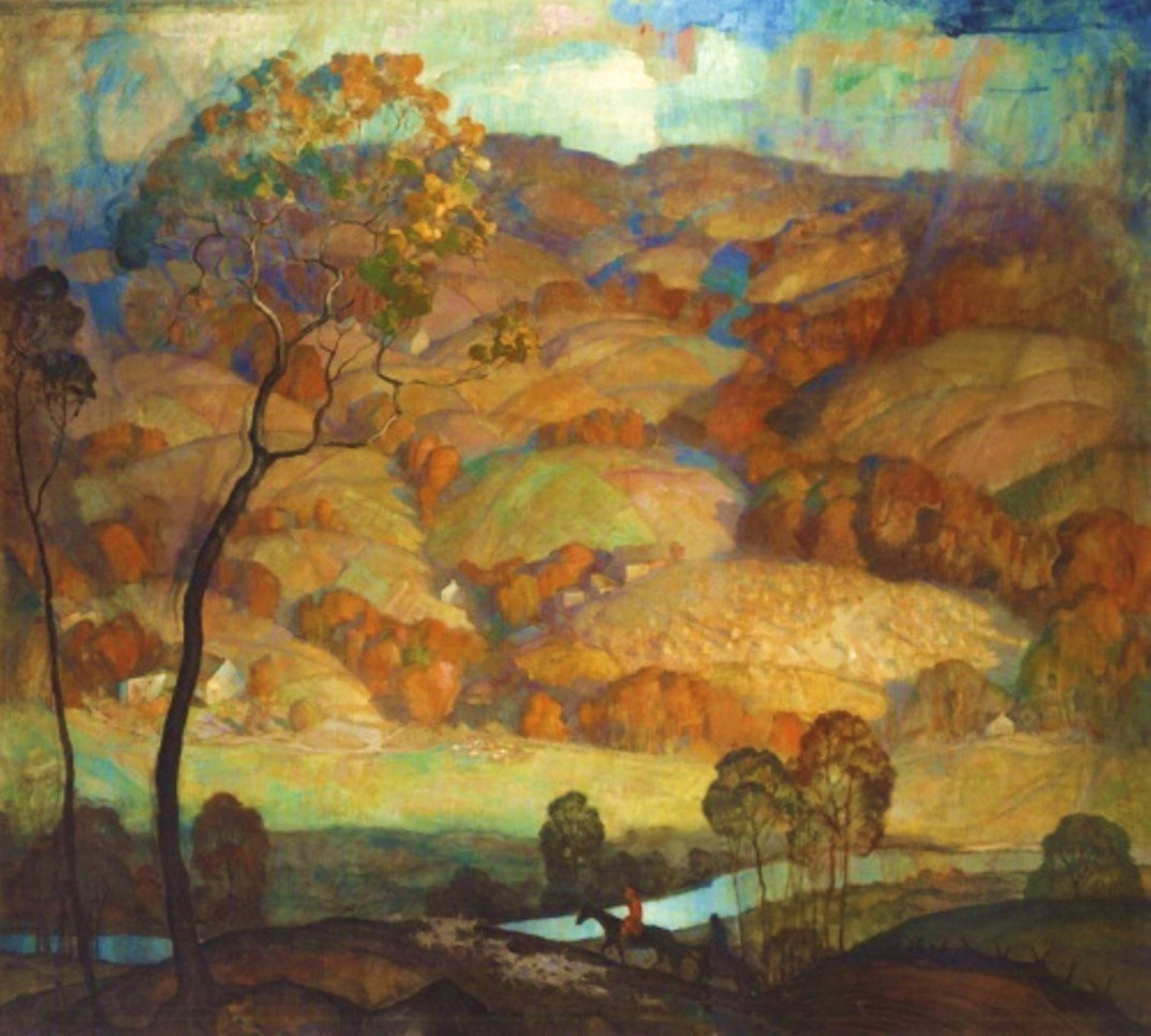 N. C. Wyeth, Chadds Ford Hills, c. 1931 (Source: paperimages, via journalofanobody)