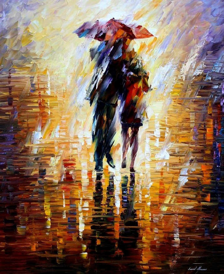 Leonid Afremov (1955- ), Together in the Storm