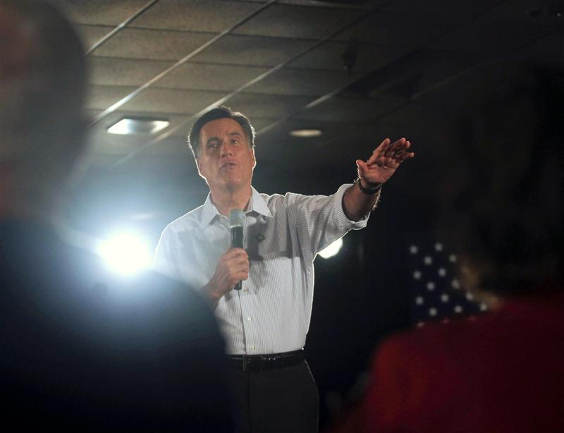 Former Massachusetts Governor Mitt Romney may be headed for an important victory in Illinois on Tuesday that would help him put more distance between himself and Rick Santorum, his chief rival for the Republican presidential nomination. A new poll by Public Policy Polling said Romney leads the conservative Santorum by 45 percent to 30 percent in Illinois. Former U.S. House of Representatives Speaker Newt Gingrich had 12 percent and libertarian Congressman Ron Paul, 10 percent. Romney, who has struggled to put away Santorum, leads the former Pennsylvania senator in the race for the 1,144 delegates needed to win the Republican presidential nomination. He has 518 delegates to Santorum's 239, according to CNN. A victory in Illinois, combined with his win in Puerto Rico and sweep of its 20 delegates on Saturday, would put Romney one step closer to becoming the party's candidate to face Democratic President Barack Obama in the November 6 election. Read more: Romney leads in Illinois poll over Santorum