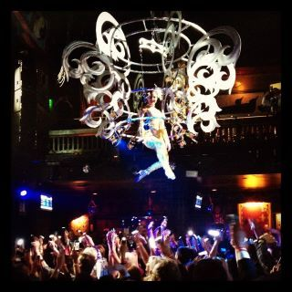 The Champagne Chandelier at the House of Blues Post your favorite cocktail recipes on our Facebook wall!