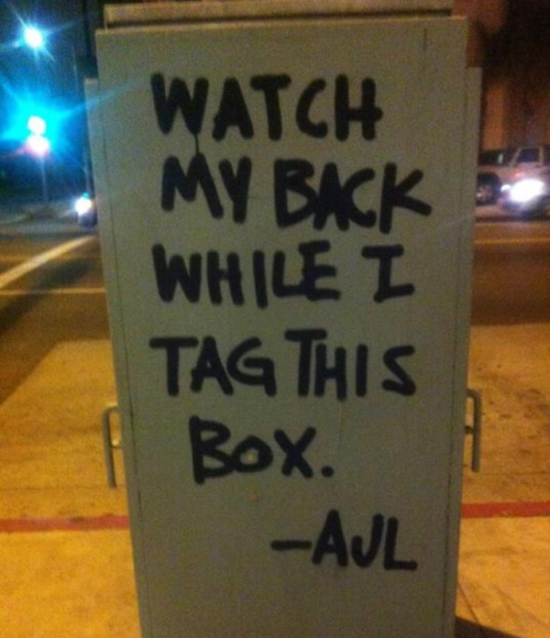 Via a Downtown Art Walk link: Ironic Street Art.