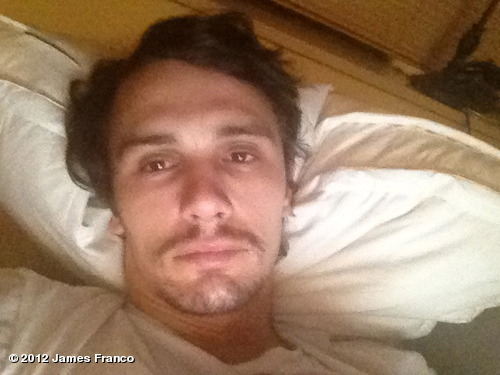 jamesfranco:  View more James Franco on WhoSay   I love James Franco's tumblr so much. It taught me that he reads Cormac McCarthy novels (or at least photographs early editions of them) and sits around looking unclean.