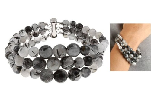 black rutilated journey bracelet from Pearlz Ocean on overstock.com