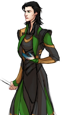 kreugan:   A quick female Loki since she wasn't invited to the Avengers party! p.s. yes I know there is an actual Lady Loki! this isn't meant to be the Sif version, just a genderbend of the movie version.