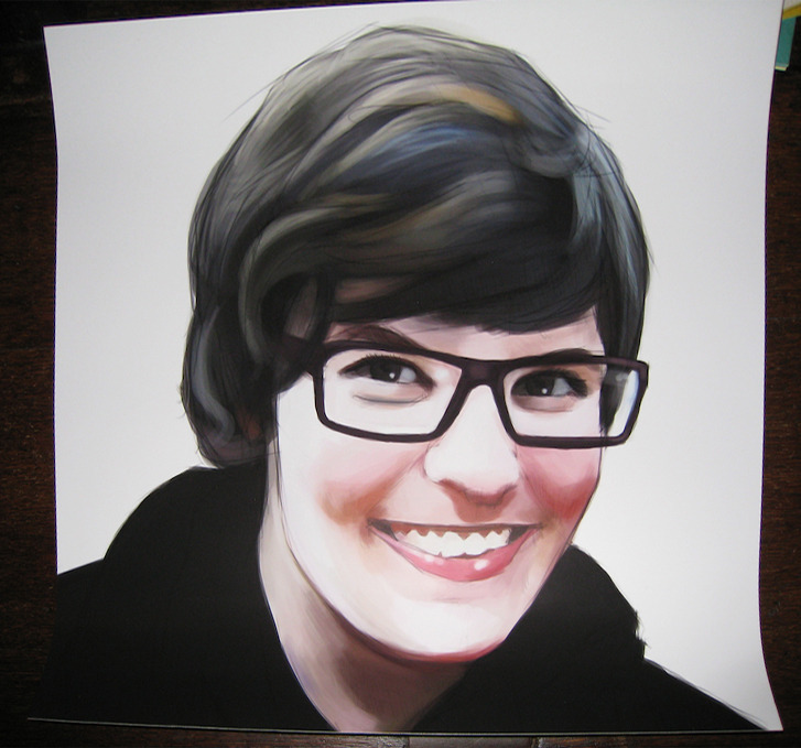 Matte print of my face. This is the kind of print you get when you hire me to do a painting for you. I prefer this to the alternative, which is canvas.