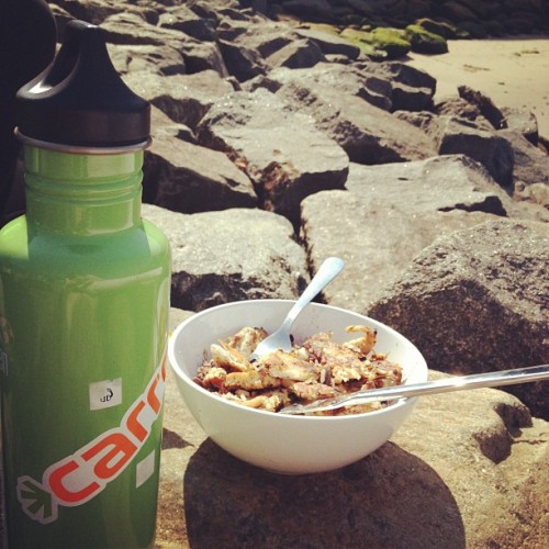 Lunch down on the rocks (Taken with instagram)