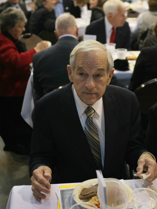 "We call this one ""Ron Paul with Sad Meat."" More where that came from."