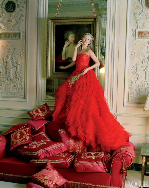 vogue:  Kate Moss Photographed at the Ritz Paris by Tim Walker for the April Issue of Vogue  Right. The April issue of Vogue US is probably one of the reasons why I love publishing. Simple as that!!