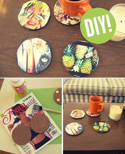 DIY Instagram coasters.  Save your side tables!
