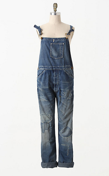 This pair of Levis Overalls currently sells for $350  at Anthropologie.  First of all, who is wearing overalls these days? Is it 1993? Secondly, if you wanted a pair of overalls, in what world would $350 seems reasonable? Angry female consumers unite!