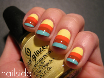 nailside:  Springy stripes