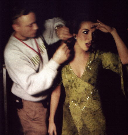 Helene Segara gets ready for a performance - Original French Production