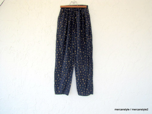 NautiCool Nautical Stretch Pants size Petite by Mercanstyle2 http://etsy.me/xteW6T