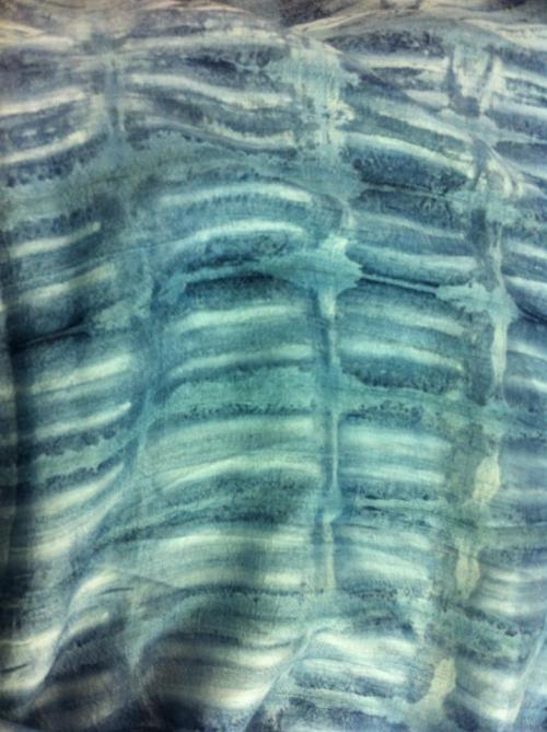 We're feeling the blues for Spring/Summer 2013!  New texture made from natural indigo and paperclips. Innovative, earth-friendly, and absolutely stunning.
