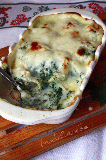 phagosome:  Pasta with cream cheese and spinach by Isabela.C on Flickr.