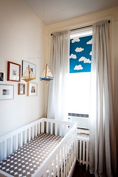 Need nursery ideas? This design will take your baby on many sea voyages.