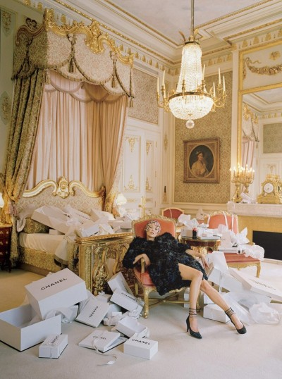 """Checking Out"", Kate Moss photographed by Tim Walker in American Vogue April 2012"