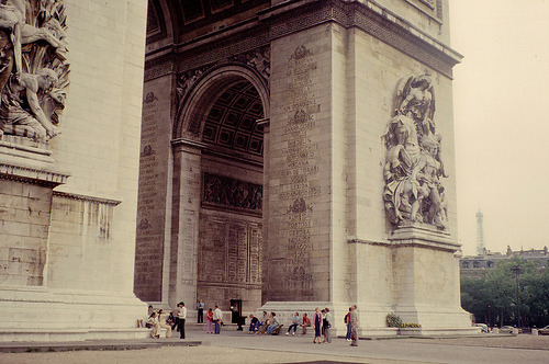 romantisme1812:  Arc de Triomphe, Paris, France.