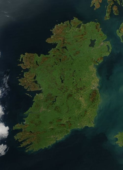 A rare glimpse of Ireland without any obscuring clouds…