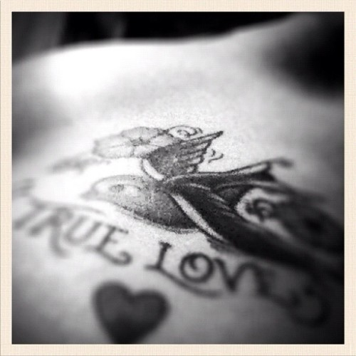 True Love #selfportrait #girl #mobilephoto #iphone4 #iphoneography #photooftheday #tattoo (Taken with instagram)