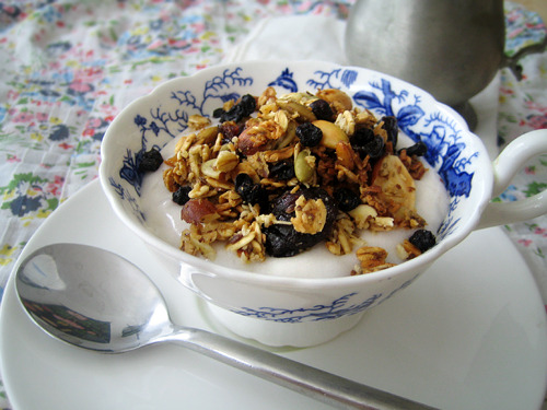 Easy Blueberry Cherry Granola