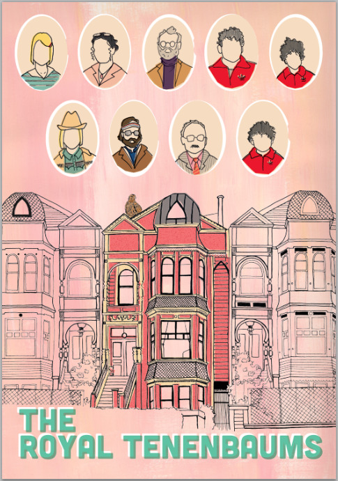 paperfork-art:  The Royal Tenenbaums poster.
