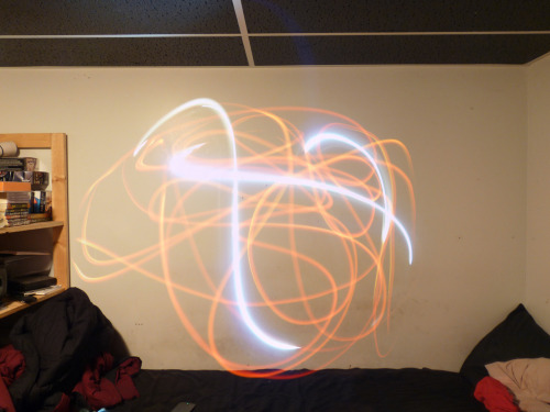 I decided to try light painting. Nothing fancy yet, but maybe more in the future, because this didn't turn out too terribly.