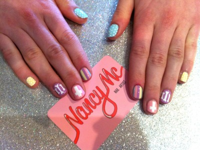 nancymcnails:  Pretty pastels