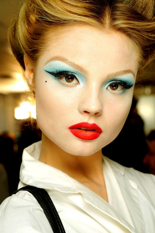 Magdalena Frackowiak at Christian Dior Haute Couture Spring/Summer 2010 by John Galliano Backstage (My edit)