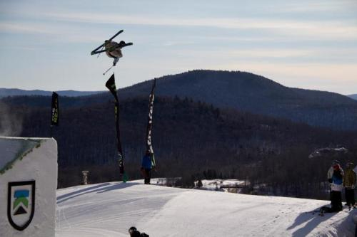Henrik Harlaut sending his signature dub bio 10 in Killington, VT