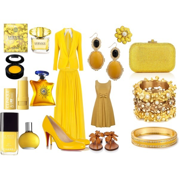 Yellow oh Yellow by thinkeventsplanning featuring studded sandals